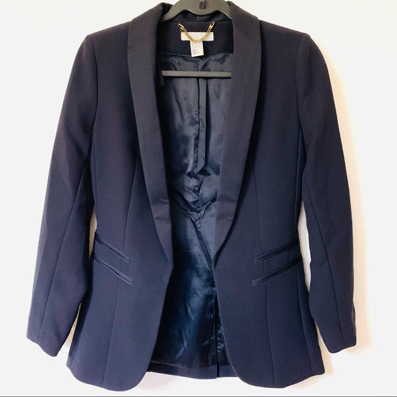 H&M Jackets & Blazers - H&M Navy Blue Tuxedo Jacket